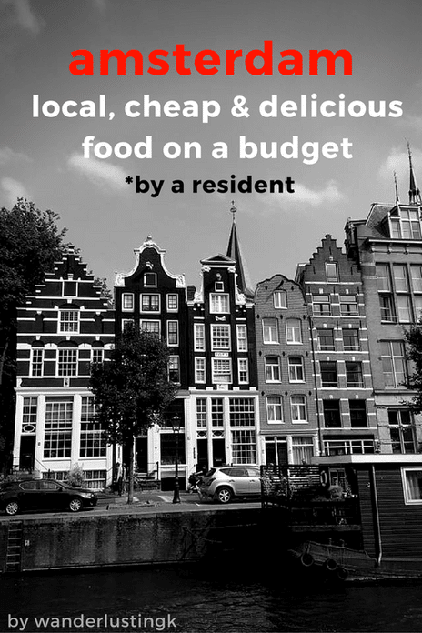 Visiting Amsterdam on a budget? Insider tips for the best cheap food in Amsterdam with tips from a resident for food under 10 euros. #Amsterdam #Netherlands #travel