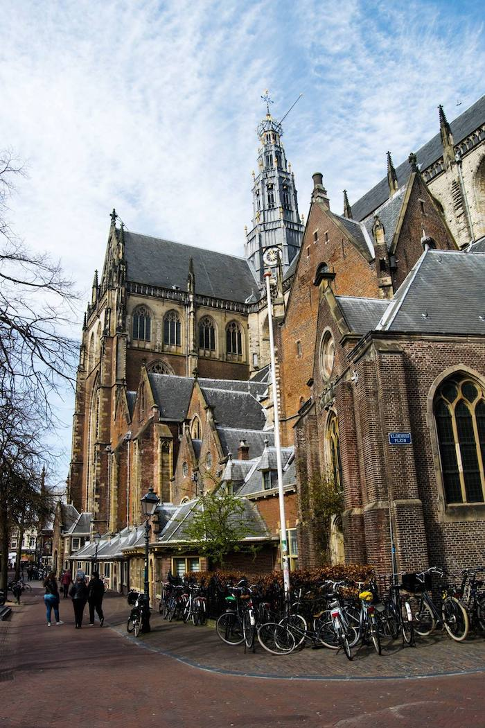 Saint Bavokerk in Haarlem, Noord Holland, the Netherlands. You need to visit this city in Holland. Click for your perfect Netherlands itinerary written by a resident. #travel #Dutch #Holland #Netherlands #Haarlem