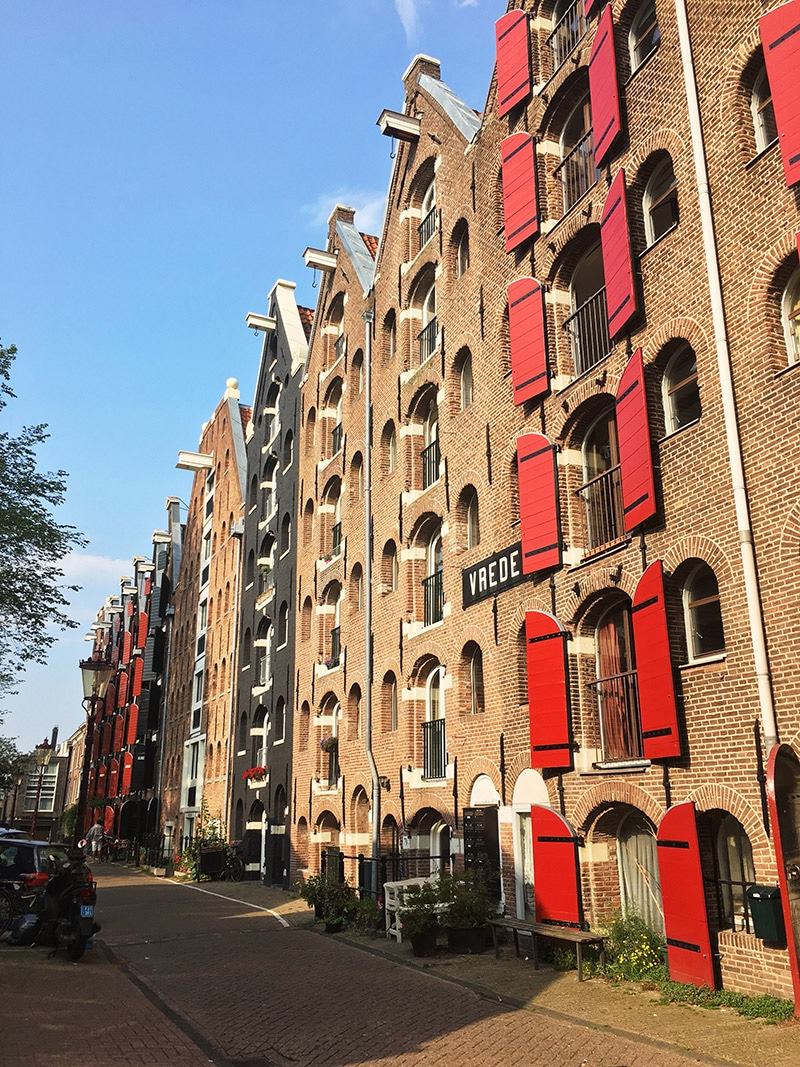Warehouses in Amsterdam. Read about the best things to do in three days in Amsterdam in this complete guide to Amsterdam! #travel #Amsterdam #Netherlands #Europe