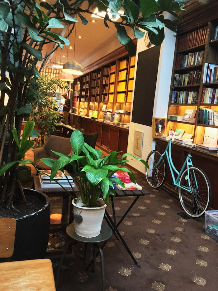 The Bookstore, one of the most beautiful cafes in the Hague. Read about where to get a great coffee in the Hague in this cafe guide to the Hague by a resident! #travel #Hague #Netherlands #Holland #coffee