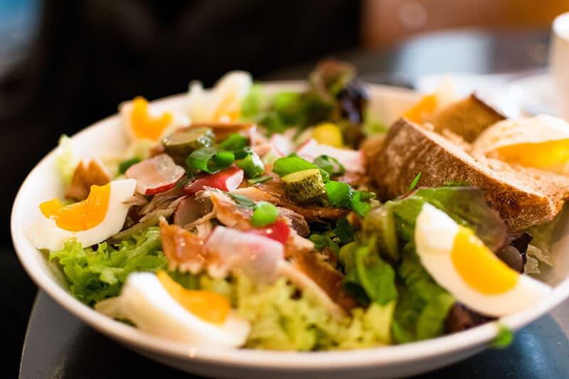 A delicious makreel salad at the Utrecht lunch hotspot, Daen's!