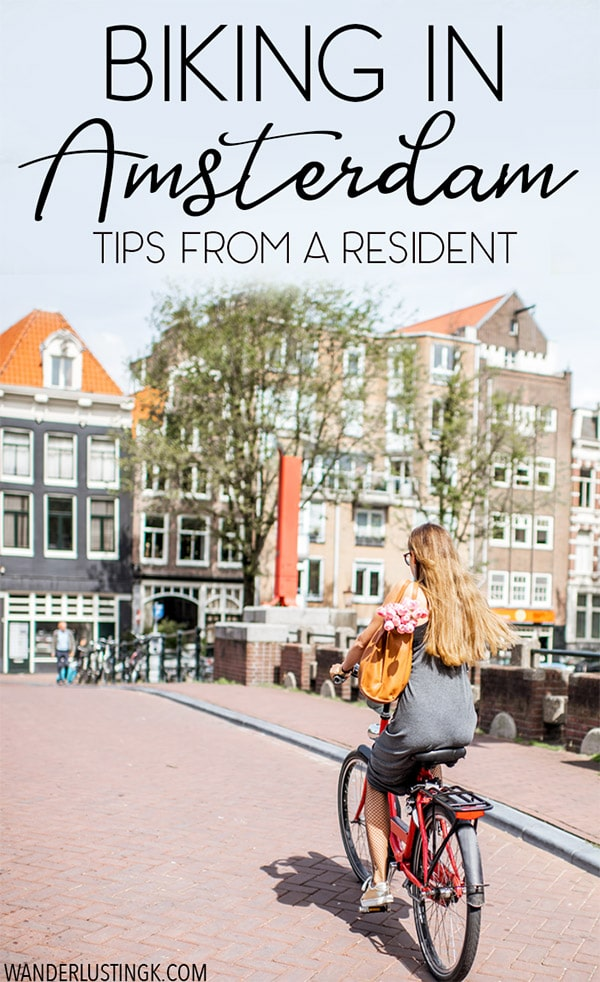 Planning your trip to Amsterdam? 20 must-read tips about biking in Amsterdam that you'll want to know before bicycling in Amsterdam written by a resident on bike rules in Amsterdam, bike etiquette in Amsterdam, and bike rentals in Amsterdam. #biking #amsterdam #netherlands #europe #travel