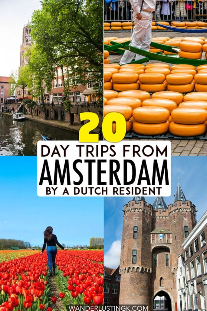 Looking for Dutch travel inspiration? Read insider tips for 20 best day trips in the Netherlands with tips on where to visit in the Netherlands for one day without a tour! #travel #netherlands #europe #dutch #utrecht #zaanseschans #alkmaar