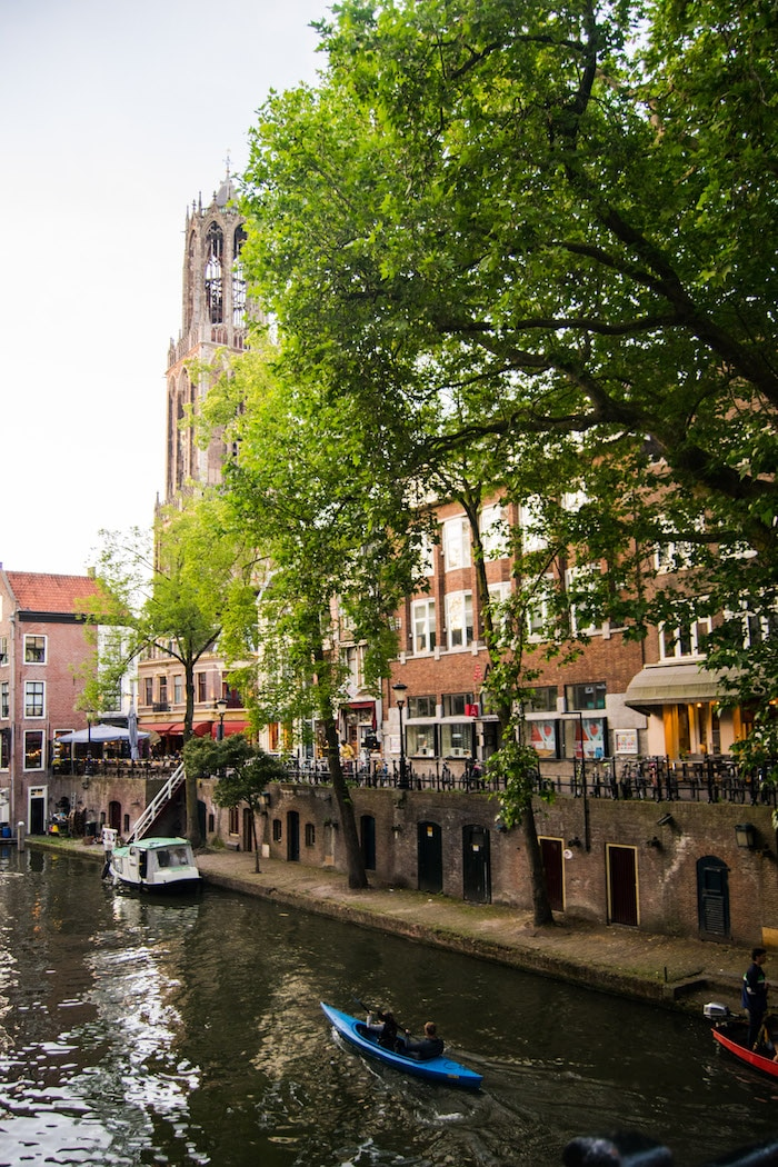 Utrecht is the most beautiful day trip from Amsterdam. Don't miss this gorgeous Dutch city in the Netherlands. Be sure to include this beautiful city in your week (or more) in the Netherlands! #utrecht #netherlands #travel #europe