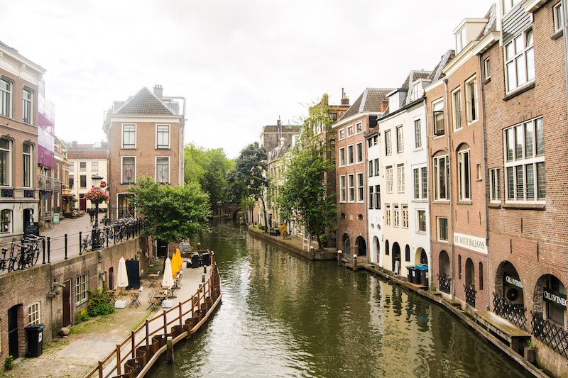 Canals in Utrecht. Read your perfect one day in Utrecht guide with the best things to do in Utrecht, the prettiest city in the Netherlands! #travel #netherlands #canals #utrecht