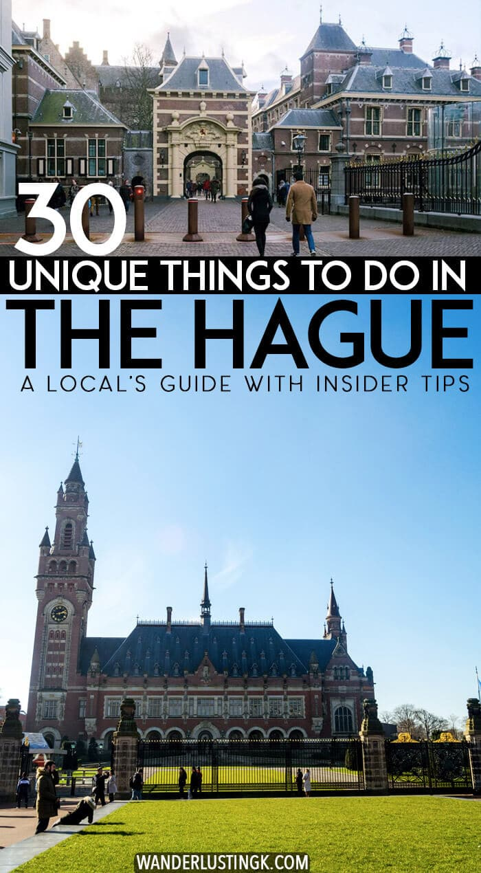 Planning a day trip to the Hague, the Netherlands and trying to figure out what to do in the Hague? Read a local guide to the Hague with insider tips on the 30 best things to do in the Hague. #Hague #Holland #Netherlands #nederland #DenHaag #TheHague #Europe