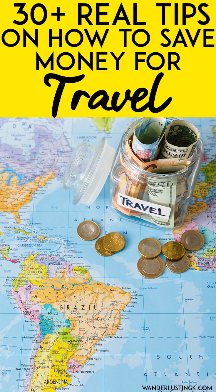 Saving up for your dream trip? 30+ real tips on how to save for travel with money cutting tips to help you travel more! #travel #traveltips #moneytips