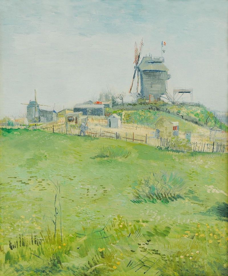 Vincent van Gough, Le Moulin de la Galette, one of Van Gogh's famous paintings of Montmartre.