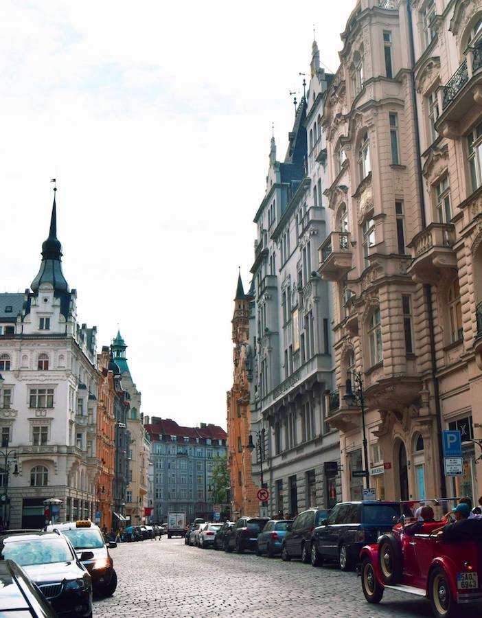 Czech out this street in Prague, one of the best European cities to visit. Read your perfect European itinerary for your first trip to Europe! #travel #prague #czechrecpublic