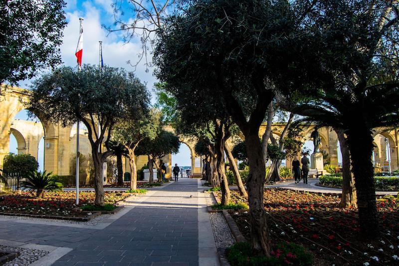 Upper Barrakka Gardens, one of the most beautiful places to sightsee in Malta and to visit over three days in Malta! #Malta #Travel #Europe #Valletta #Gardens