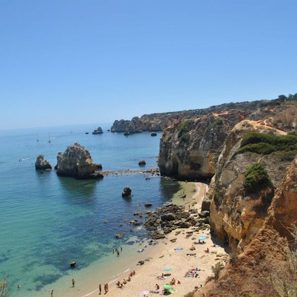 Beautiful cliffs in Lagos, Portugal. Read where to go in two months in Europe with tips for creating a Europe itinerary! #travel #europe #lagos #portugal