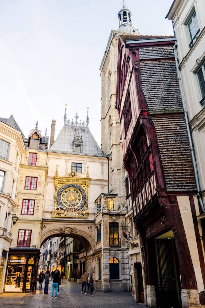 Rouen is a beautiful city in Normandy that you must include on your Normandy itinerary. A Rouen is only a day trip from Paris! #travel #normandy #rouen #paris