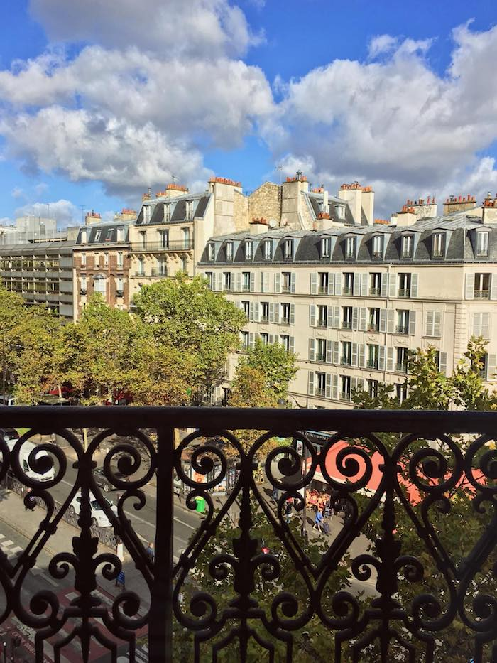 View from hotel in Paris. If you're visiting Paris, read safety tips for Paris about top scams in Paris to avoid with tips on how to avoid getting robbed in Paris by pickpockets. #Paris #france #travel #safety | Safety in Paris | Pickpocketing Paris | Scams in Paris |