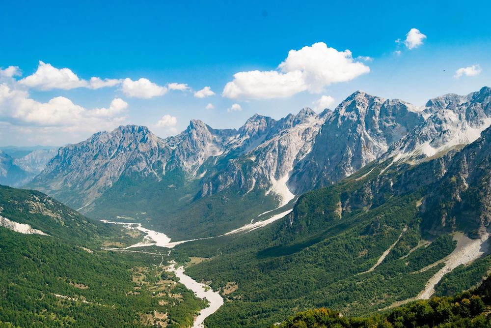 Views from the hike from Theth to Valbona, one of the most beautiful hikes in Albania!