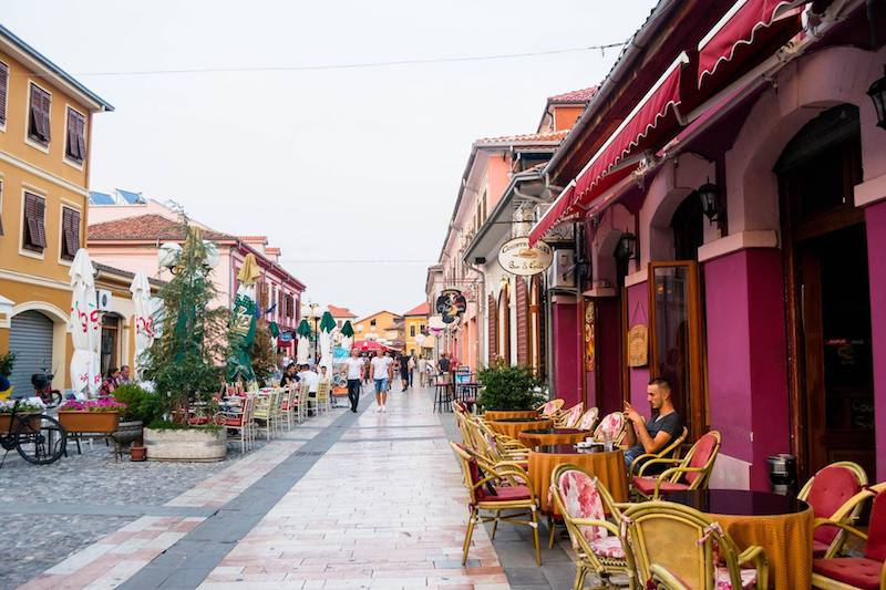 Colorful stores in the city center of Shkodra, Albania. #Balkans #Albania #Travel #Europe