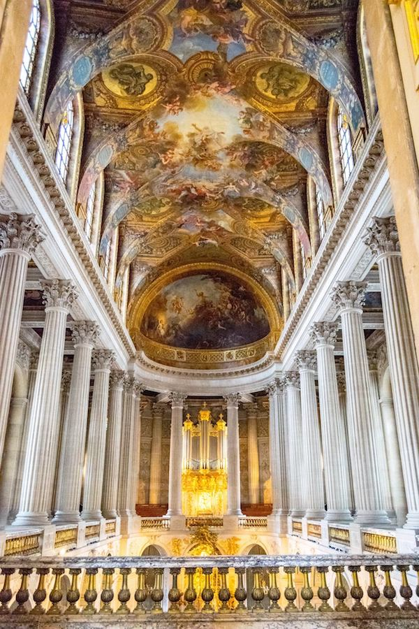 Chapel of Versailles. Read practical travel tips for Versailles with how to skip the line at Versailles and how to get free tickets at Versailles! #travel #france #versailles