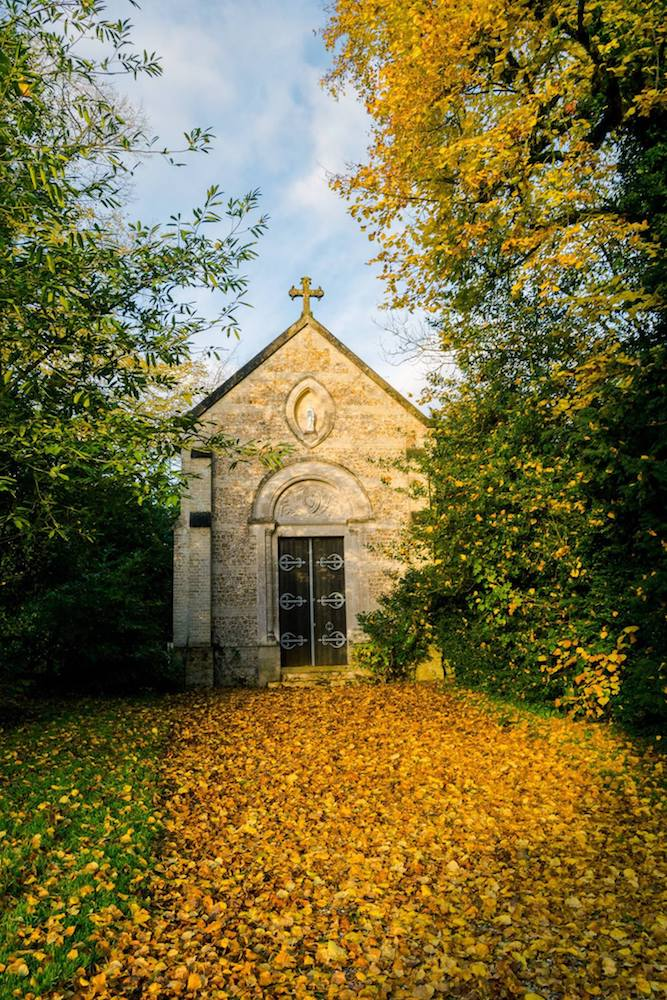 This private family chapel is on the chateau grounds in Normandy. Read where to stay in Normandy! #travel #france #normandy