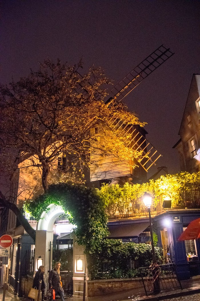 The real Le Moulin de Galette, one of the most iconic sights in Montmartre incuded in this free walking tour of Montmartre. #paris #france #travel