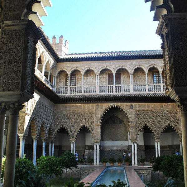 Alcázar in Seville, Spain. Read why you need to include Seville on your list of cities to visit in Europe on your first Europe trip! #travel #europe #spain #sevilla