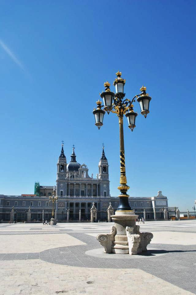 Royal Palace in Madrid. Read tips for visiting Madrid on a budget written by a resident. #travel #madrid #spain #europe