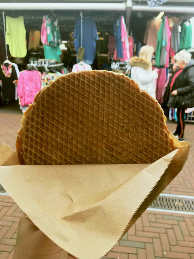 Stroopwafel, one of the most delicious Dutch desserts to eat in Amsterdam, the Netherlands. Read Dutch foods that you must try! #travel #Amsterdam #netherlands #holland #food