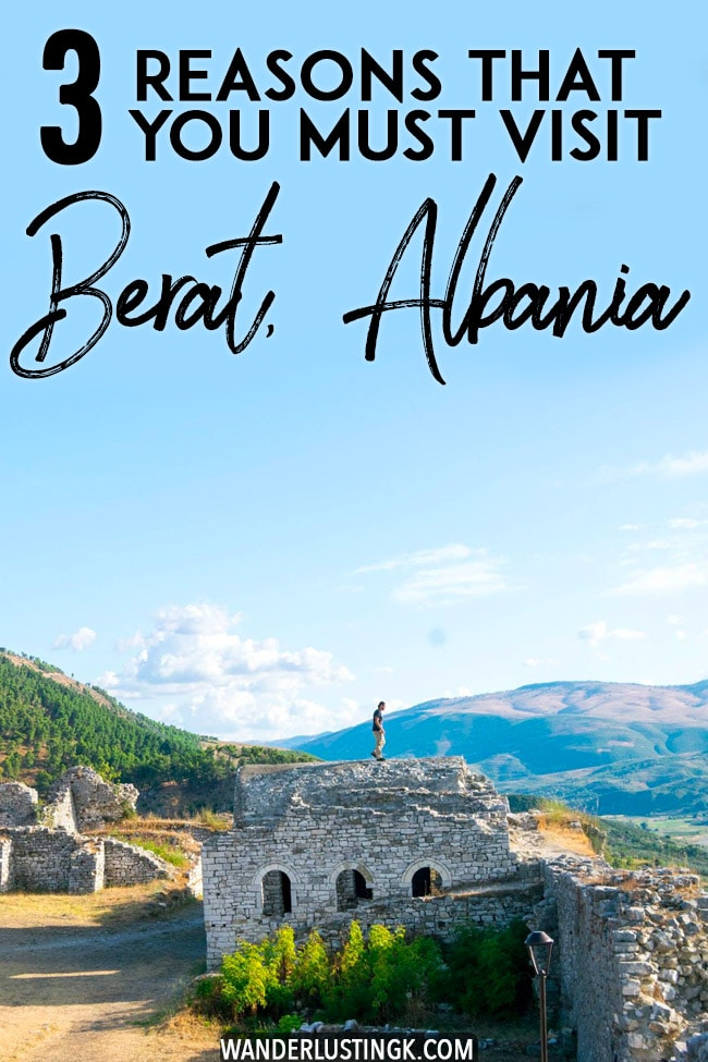 Planning your trip to Albania and the Balkans? Read why you must visit Berat, Albania! Berat is one of the UNESCO-recognized cities in Albania! #travel #Balkans #albania #berat #europe