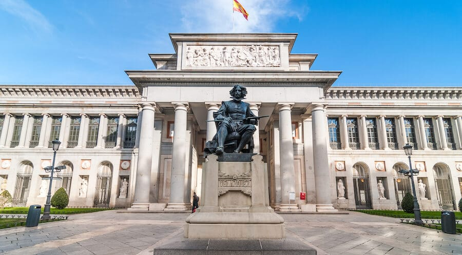 El Prado Museum in Madrid. Read insider tips on the best budget things to do in Madrid, including how to visit El Prado on a budget! #madrid #spain #travel #europe