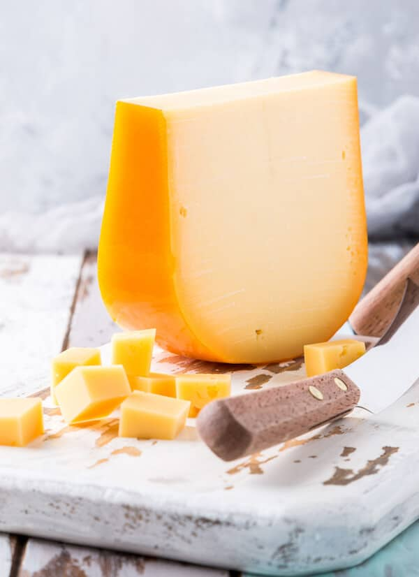 Gouda, a popular Dutch cheese, to try in Amsterdam. Read about Dutch foods to try in the Netherlands. #netherlands #Amsterdam #holland #gouda #cheese