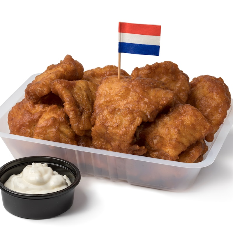 Kibbeling, a typically Dutch food to try in Holland. Read what Dutch foods must try in the Netherlands. #travel #holland #Amsterdam #netherlands