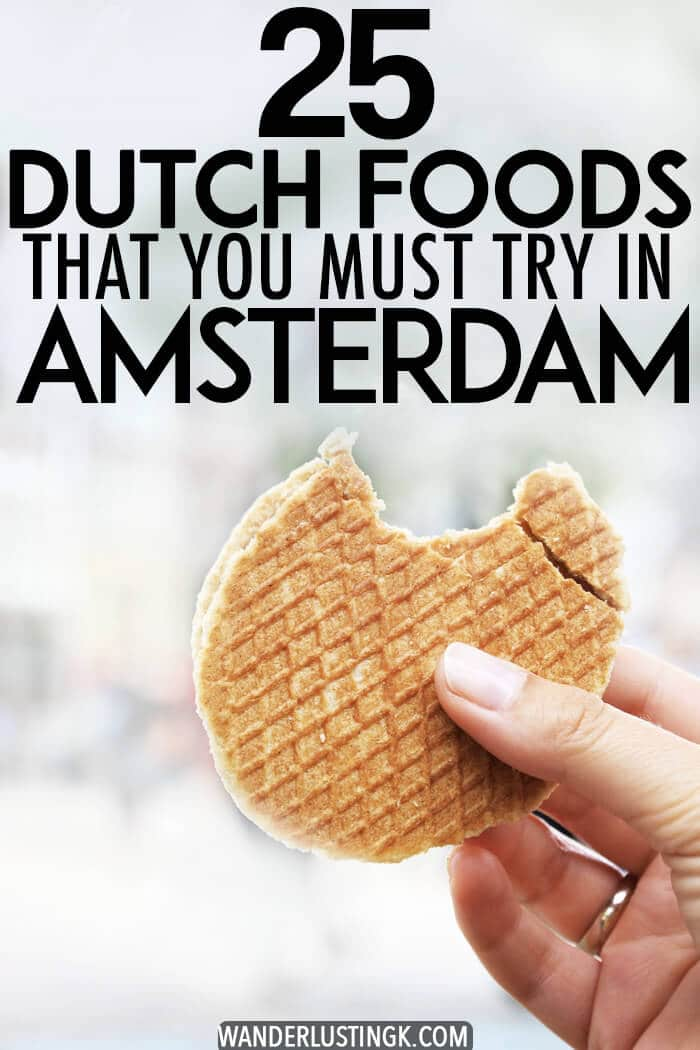 Trying to figure out where to eat Dutch food in Amsterdam? Your Dutch food checklist with 25 Dutch foods to eat in Amsterdam. #travel #food #Amsterdam #holland #netherlands