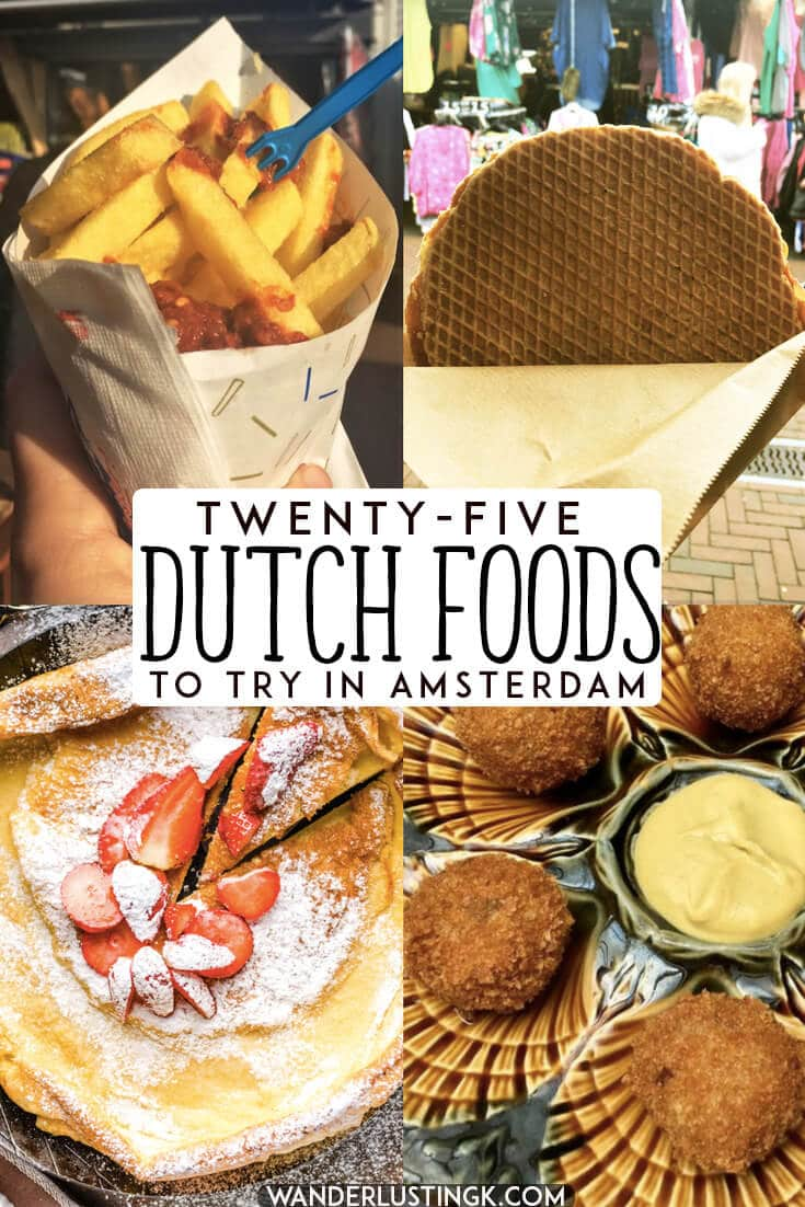 Trying to figure out what to eat in Amsterdam? 25 Dutch foods that you'll want to eat in Holland, including the best places to eat Dutch food in Amsterdam. #netherlands #amsterdam #holland #travel