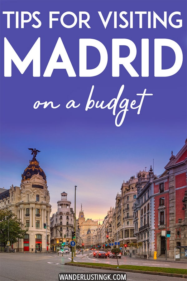 Visiting Madrid? Insider tips for visiting Madrid on a budget, including cheap things to do in Madrid, the best things to eat in Madrid on a budget, and where to stay in Madrid on a budget! #travel #Madrid #Spain #España #Europe