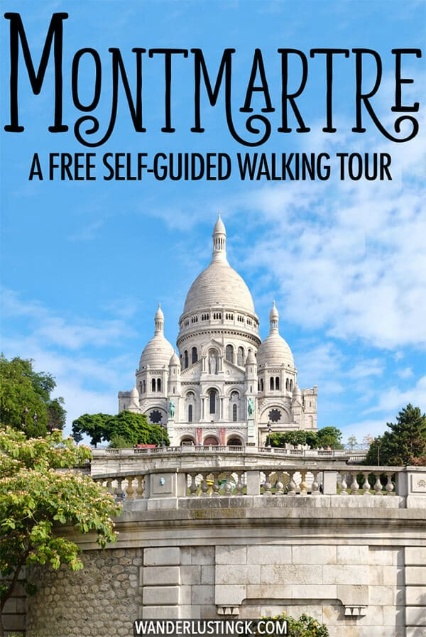 Visiting Paris? Your perfect itinerary for Montmartre, including a free self-guided walking tour of Montmartre with a map with secret streets that you won't want to miss! This arrondissement in Paris with Sacre Coeur is perfect for a morning walk in Paris. #Montmartre #Paris #France #Travel #Europe