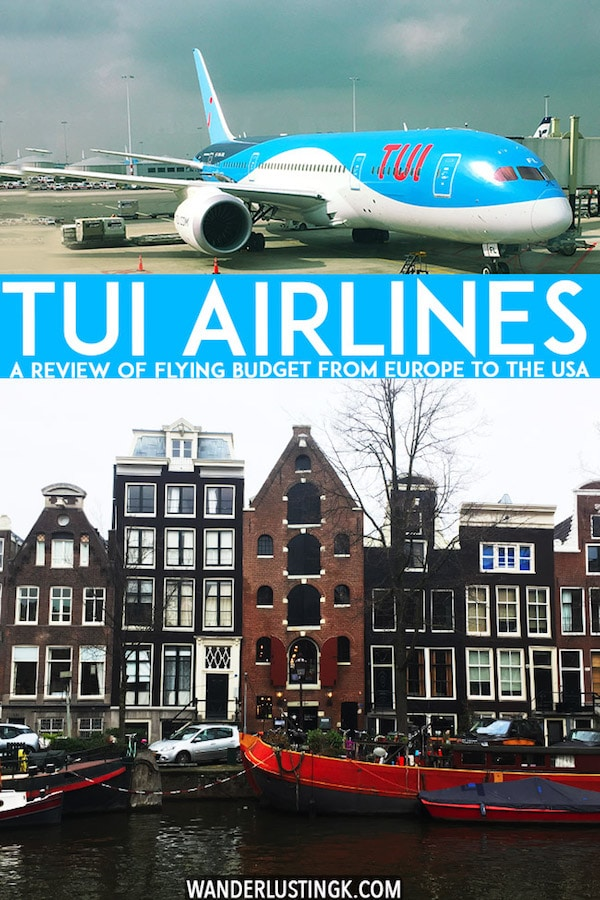 Considering flying with TUI airlines from Europe to the Caribbean or the USA? A full review of TUI airlines, a budget European airline, by an economy passenger! #travel #airlines #TUI #amsterdam