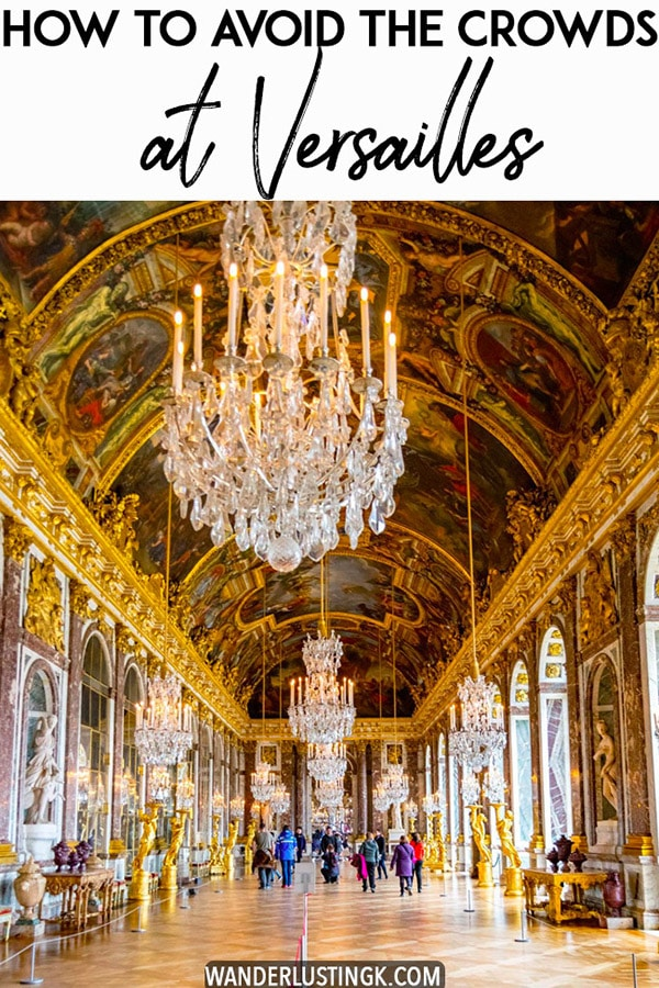 Hoping to avoid the crowds at Versailles? Some travel tips for Versailles on things to know before your visiting, including the best month to visit Versailles and how to avoid standing in line at Versailles! #travel #france #versailles #paris