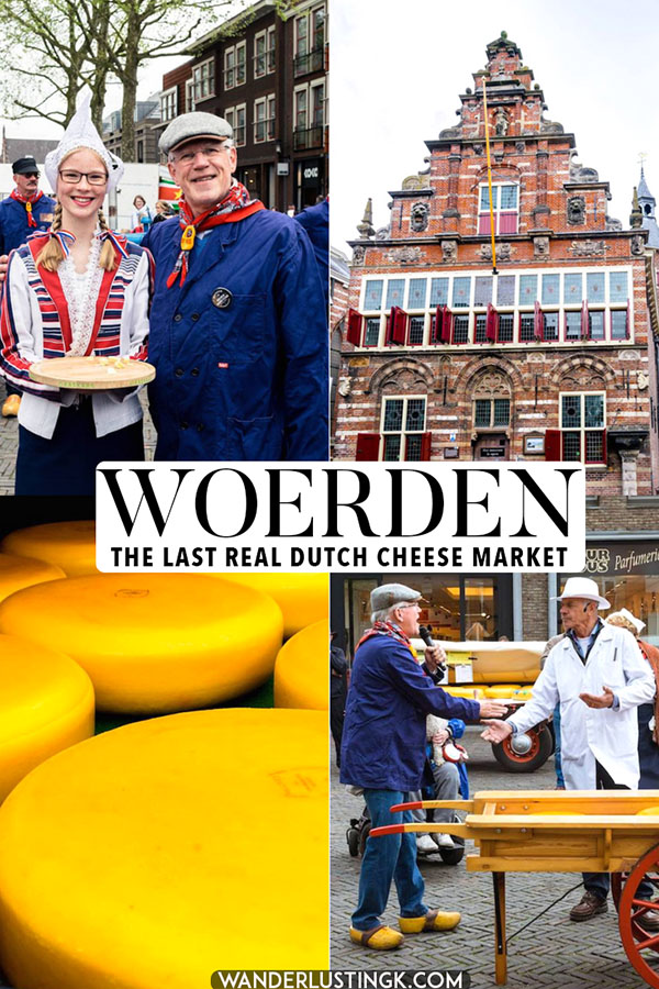 Curious about a Dutch cheese market? Visit the last real Dutch cheese market: the Woerden kaasmarkt. This cheese market is the last real commercial cheese market in the Netherlands. Read about visiting it and what to do in Woerden, the Netherlands. #dutch #cheese #netherlands #travel #gouda