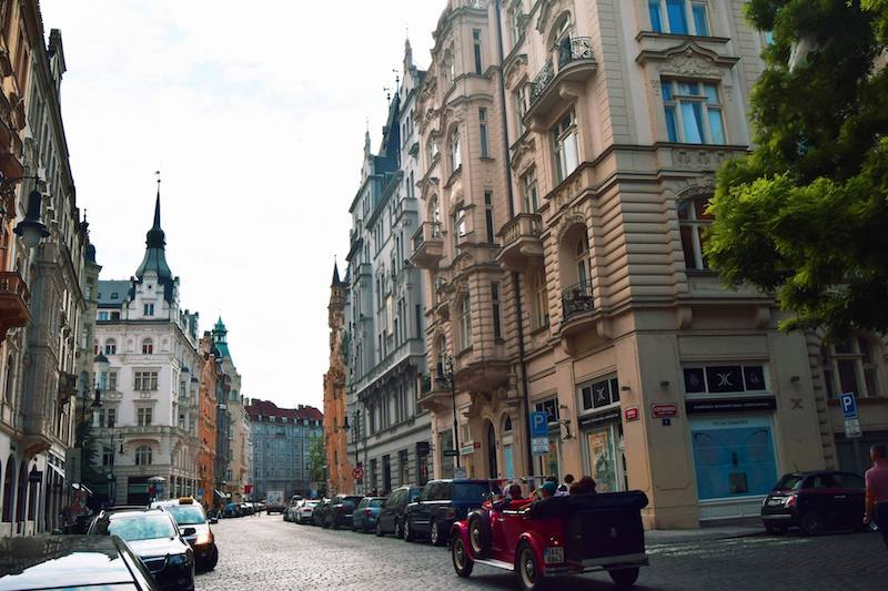 Beautiful city of Prague. Read insider tips on what to pack for Europe for a short trip with a carry-on. #travel #prague #packing