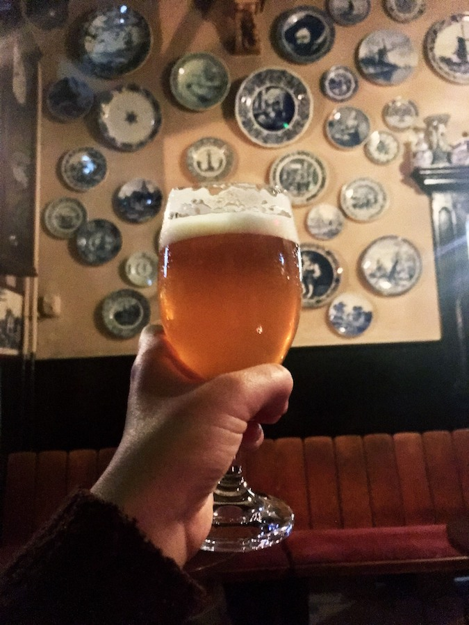 Beer in Delft. Read what you need to know before you visit the Netherlands with insider tips from a resident! #travel #netherlands #amsterdam #delft