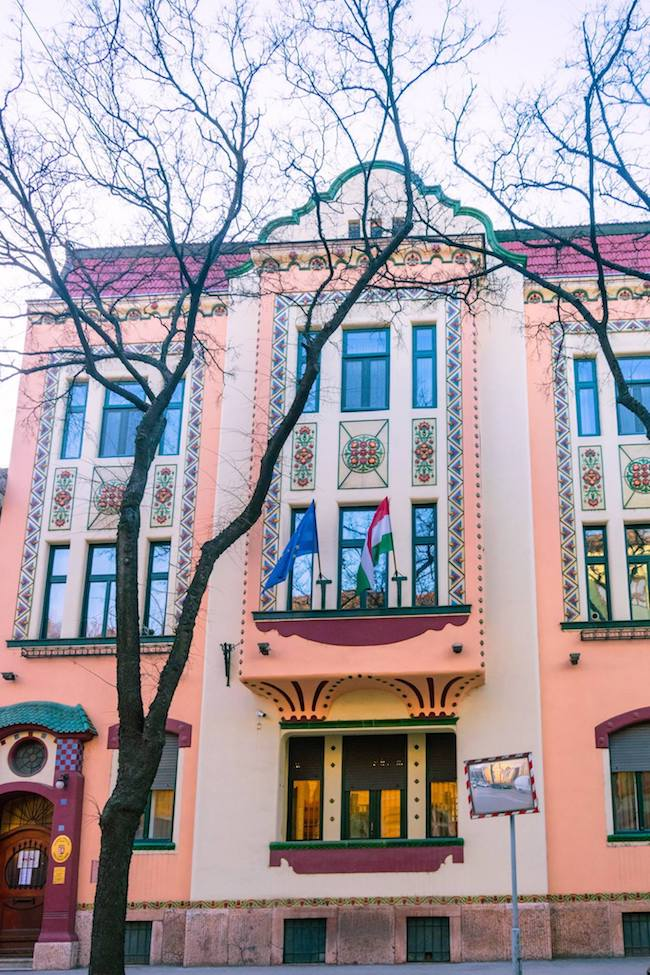Beautiful commercial storefront in Subotica, Serbia. Read about why you should visit Subotica, one of Serbia's most beautiful cities! #travel #balkans #serbia #subotica #europe #architecture #artnouveau