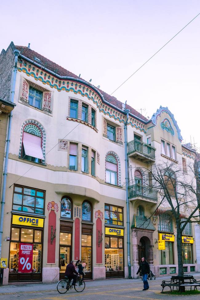 Beautiful former Subotica Savings Bank Palace in Subotica Serbia. Read about the art nouveau architecture in Subotica Serbia! #travel#balkans #serbia #subotica #europe #architecture #artnouveau