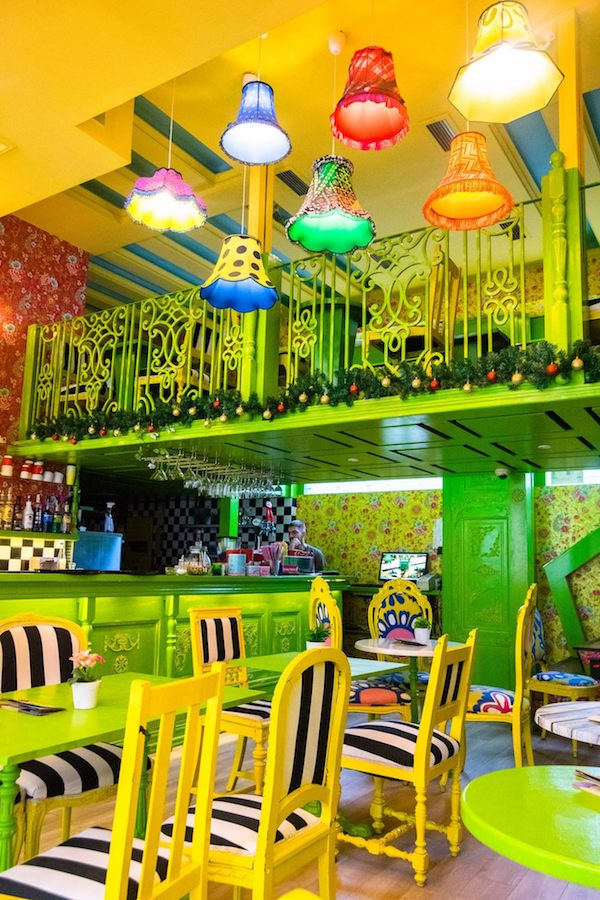 Besna Mačka, one of the most instagrammable cafes in Belgrade Serbia. Read about where to eat in Belgrade in this food guide to Belgrade. #travel #belgrade #colorful #cafe #serbia #balkans