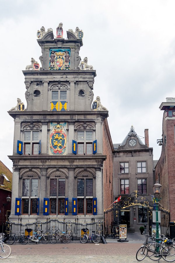 Beautiful Dutch architecture in Hoorn, one of the best day trips from Amsterdam.  Read your perfect itinerary for seeing the Netherlands beyond Amsterdam by a resident. #netherlands #holland #travel