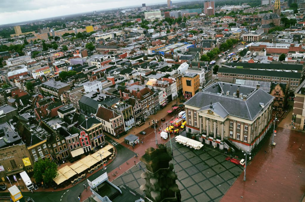 View of Groningen from above. Read about the best things to do in Groningen in this guide to Groningen written by a local. #travel #groningen #reizen #nederland