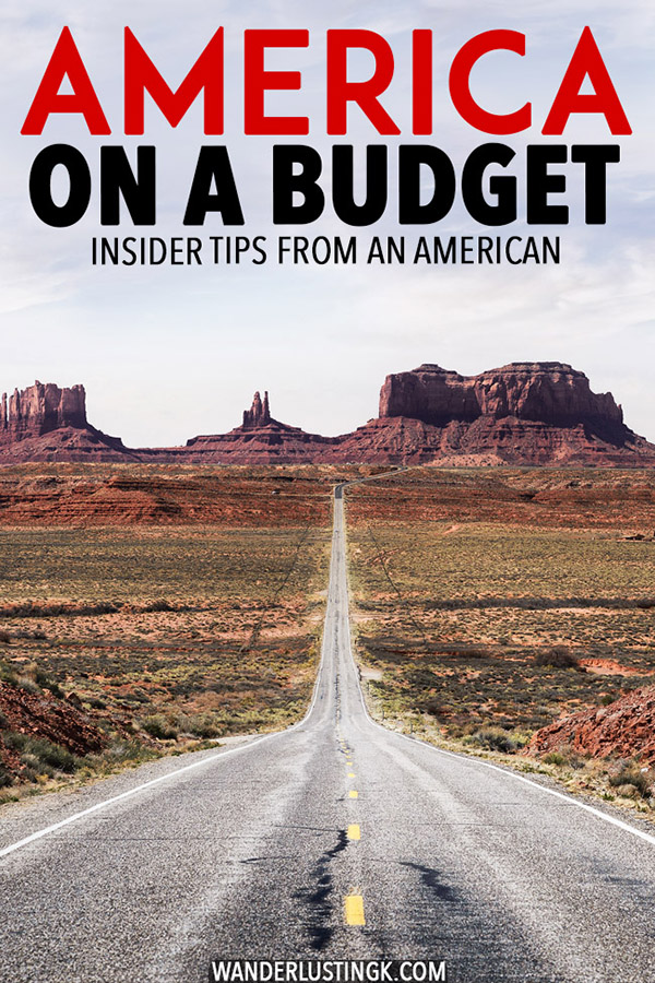 Trying to plan a cheap trip to the United States? Your ultimate guide to budget travel in the United States. Insider tips for America on a budget by an American, including how to travel around the USA without a car, how to have a budget road trip in America, where to find cheap food in the US, and cheap hotels in the United States. #USA #America #UnitedStates #travel #budgettravel #roadtrip