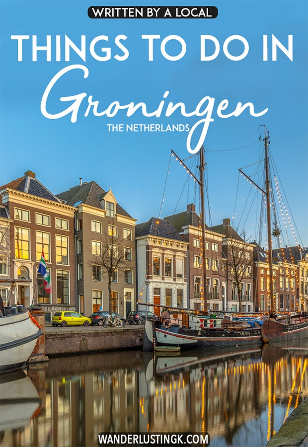 Planning your trip to Groningen, the Netherlands? Read about the best things to do in Groningen with the perfect itinerary for one day in Groningen written by a local. This Dutch city has so much to offer from history to adventure, so read about what to do in Groningen, one of the loveliest cities in the Netherlands to visit. #travel #nederland #groningen #netherlands