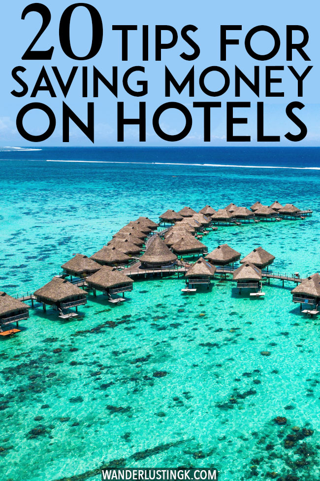Looking to save money on your vacation? 20 hotel hacks to help you save money on your hotel, find cheap hotels, and get extras at your hotel for free. Read your guide to saving money on hotels! #travel #hotels #accomodation #hacks