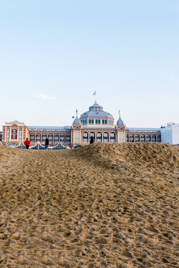 View of the Kurhaus of Scheveningen, one of the best things to visit in Scheveningen. Read this insider's guide to Scheveningen, including where to eat and drink in Scheveningen, the beach by the Hague. #travel #hague #Scheveningen #holland #beach #netherlands