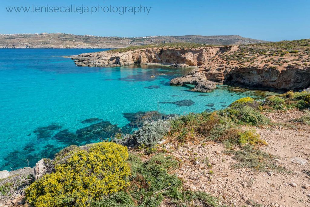 Coastline of Comino in Malta. This secret spot in Malta is easily one of the most beautiful places in Malta to visit. #malta #europe #travel