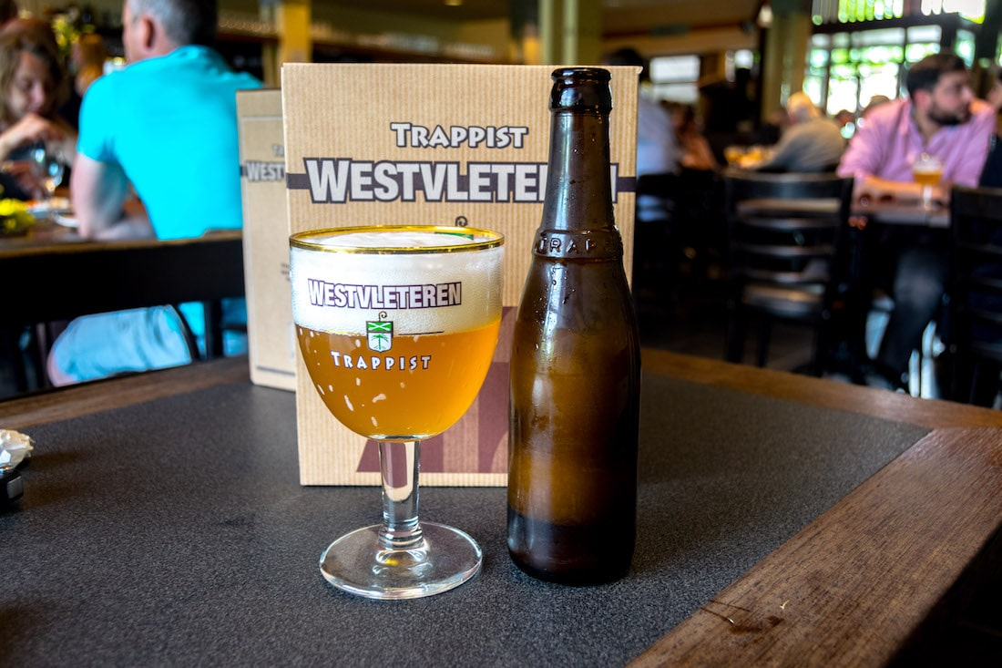Photo of the Westvleteren Blonde, one of the Westvleteren trappist beer, taken at the Westvleteren monastery cafe. #travel #beer