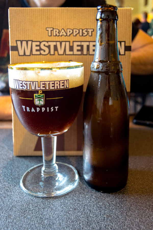 Photo of the Westvleteren 8, one of the Westvleteren trappist beers that can be bought at the Westvleteren abbey. Read how to visit Westvleteren and buy Westlveteren 8 & 12! #travel #beer #belgium